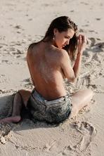 Brunette Model Alyssa Arce Flashes Her Big Boobs 07