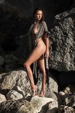 Brunette Model Alyssa Arce Flashes Her Big Boobs 10