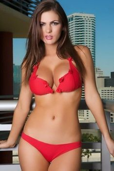 Jillian Beyor Strips Her Red Bikini