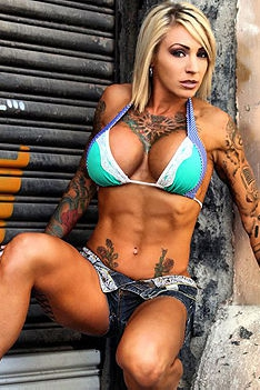 Hot Tattooed Muscle Babe