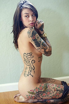 Tattooed Teen Carrina