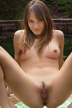 Maya Undressing Nude Outdoor