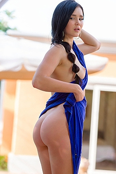 Malena In Sexy Blue Dress
