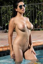Sunny Leone In Sheer Gold Bikini 11