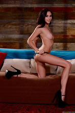 Skinny Brunette Ariana Marie Strips And Spreads 08