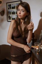 Busty Brunette Teen Mila In Erotic Art Pics 02