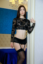 Staffie in Stockings 00