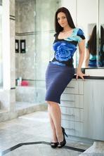 Mindi Mink In Blue Lingerie 00