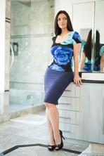Mindi Mink In Blue Lingerie 01
