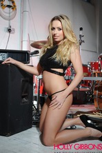 Busty Blonde Drummer Holly Gibbons 00