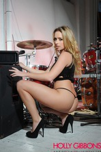 Busty Blonde Drummer Holly Gibbons 05