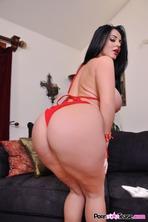 Sophie Dee Strips Off Her Red Bikini 07