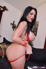 Sophie Dee Strips Off Her Red Bikini 08