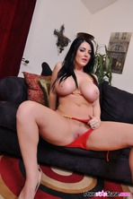 Sophie Dee Strips Off Her Red Bikini 09