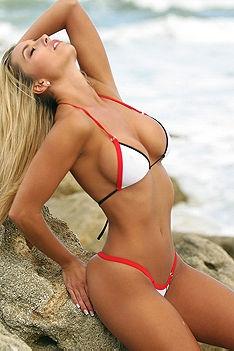 Red Trim Bikini