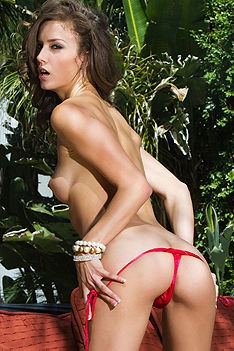 Malena Morgan In Red Bikini