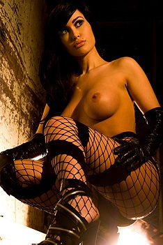 Violet Fishnet Stockings