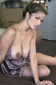 Busty Alley Baggett In Silky Clothes