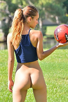 Belicia Plays Soccer