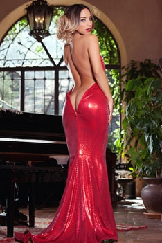Yesenia Bustillo Slips Off Her Red Dress